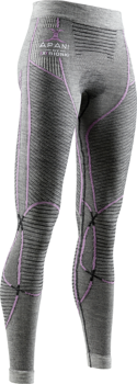 Thermal underwear X-BIONIC APANI 4.0 MERINO PANTS WOMEN BLACK/GREY/MAGNOLIA - 2020/21