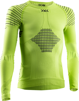 Thermounterwäsche X-BIONIC INVENT 4.0 SHIRT LG SL JUNIOR GREEN LIME/BLACK - 2020/21
