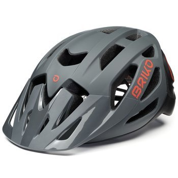 Kask Rowerowy BRIKO SISMIC MATT GREY/RED/BLACK - 2021