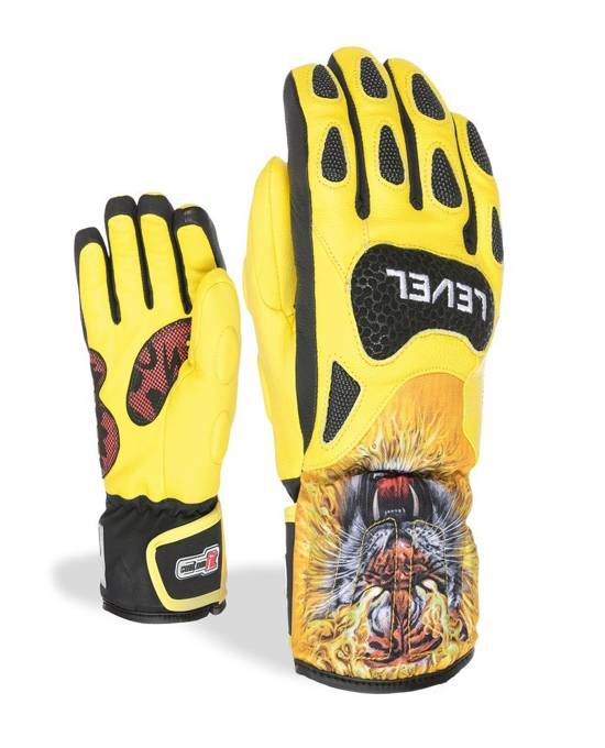 Rękawice Level SQ CF Junior Mitten - Black/Yellow